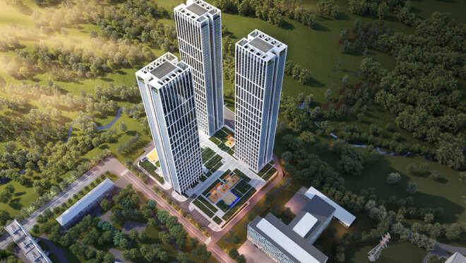 ЖК «Небо» — небоскребы на Мичуринском Жилые небоскребы «Небо»